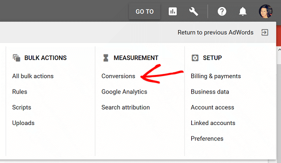 Ad Conversion Tracking - Ad Google Analytics