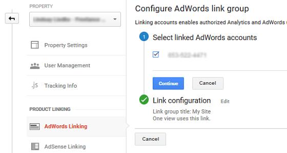 Ad Conversion Tracking - GA Ad Account