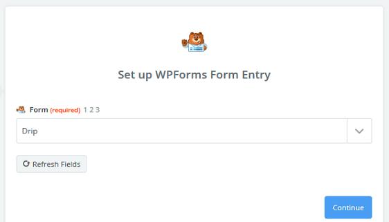 Create a Drip Form in WordPress - WPForms Form Entry