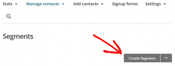 Segment MailChimp Lists - Create Segment