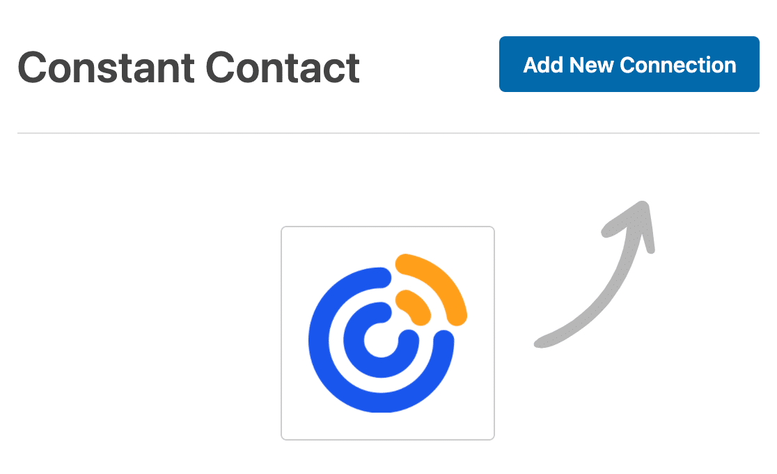 Adding a new connection for Constant Contact to a form