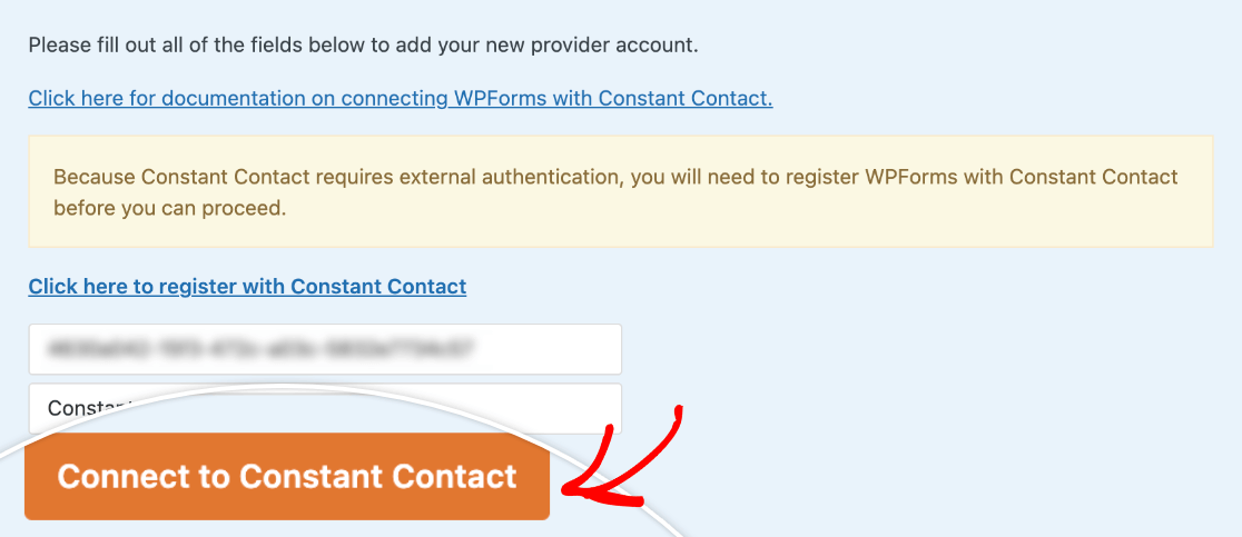 Connecting WPForms to Constant Contact
