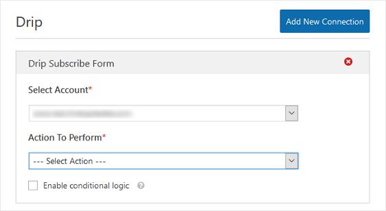drip account option