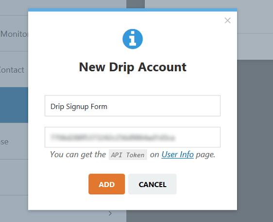 new drip account