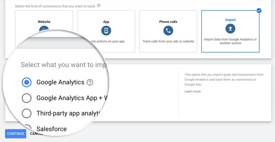 Select Analytics import