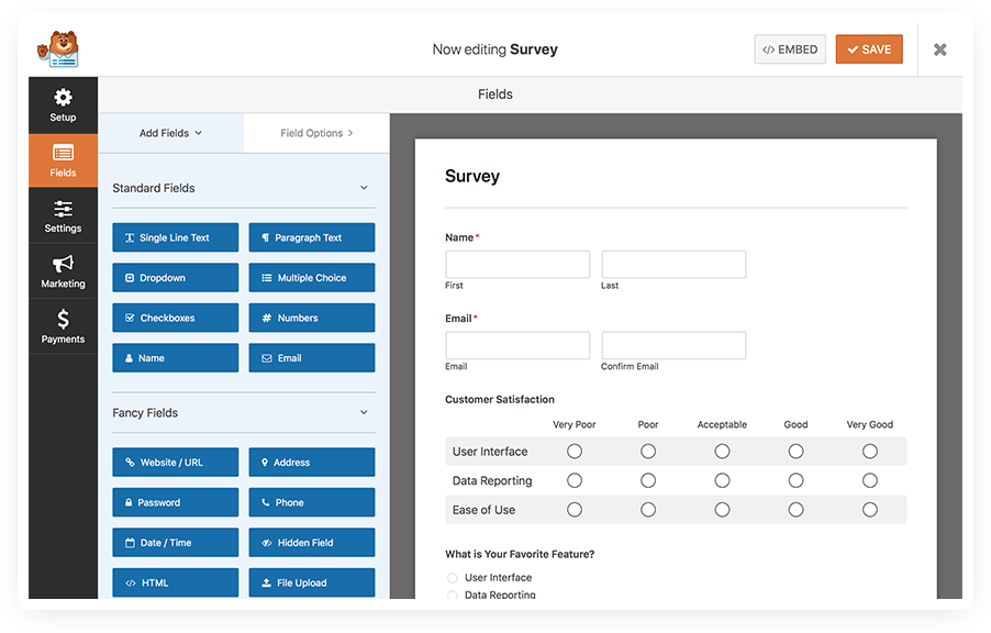 WordPress Survey Form Plugin - Easy Survey Maker + Beautiful
