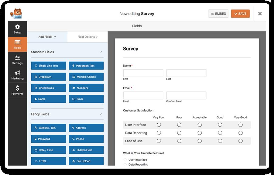 WPForms Survey Form Maker