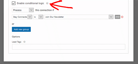 Add an AWeber Signup Form Checkbox - Enable Conditional Logic