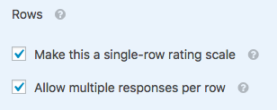 Additional options for Likert Scale rows
