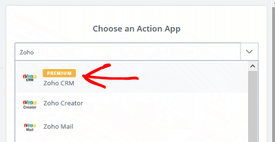 Create a Contact in Zoho - Zoho Action App