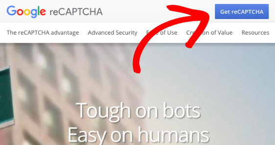 Get reCAPTCHA on Google