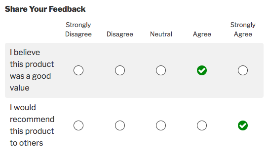 likert scale field example