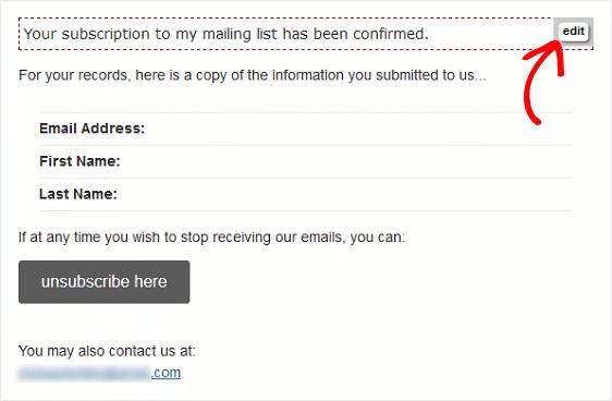 MailChimp Form Builder Editor
