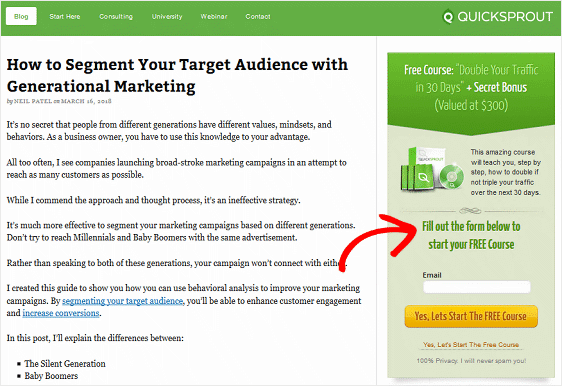 Opt In Incentive for Capturing Email Addresses
