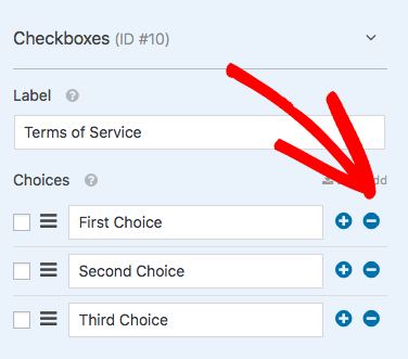 Rename field and remove extra checkboxes