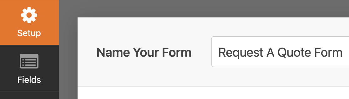 Editing the form name