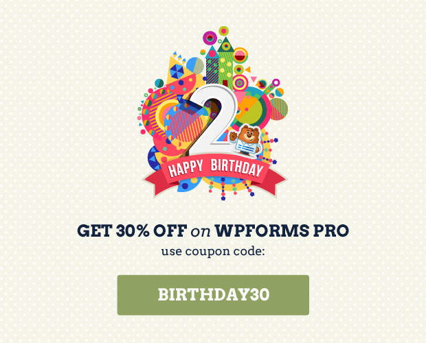 WPForms Birthday Special Offer