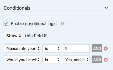 AND conditional logic