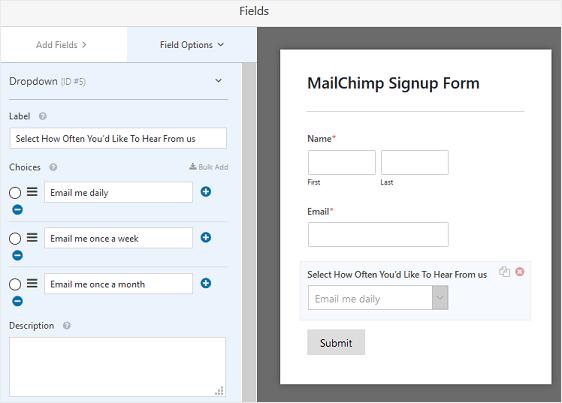 Edit MailChimp Signup Form