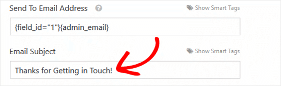 Email Subject Example