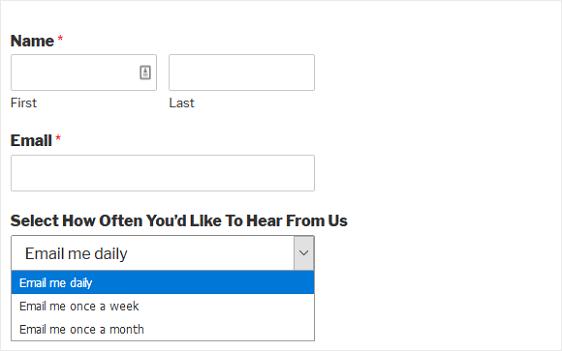 Final MailChimp List Form