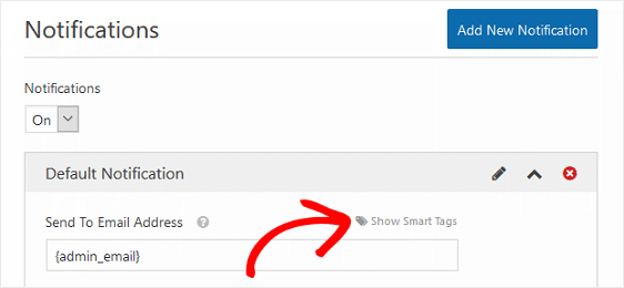Send to Email Address Smart Tags