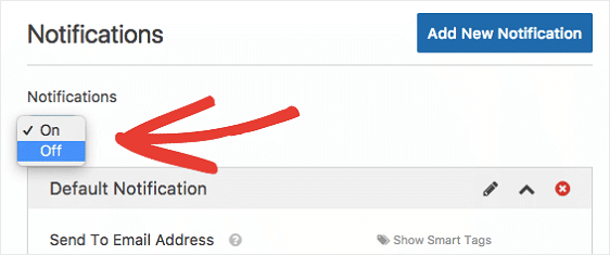 Toggle Notifications Off