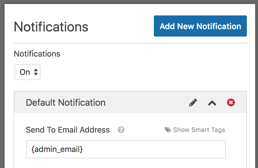 Admin email tag