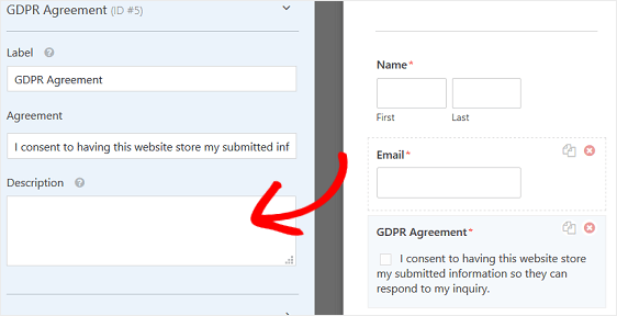 Customize the GDPR Form Field
