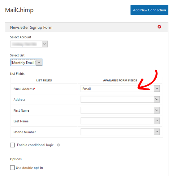 Final MailChimp Settings