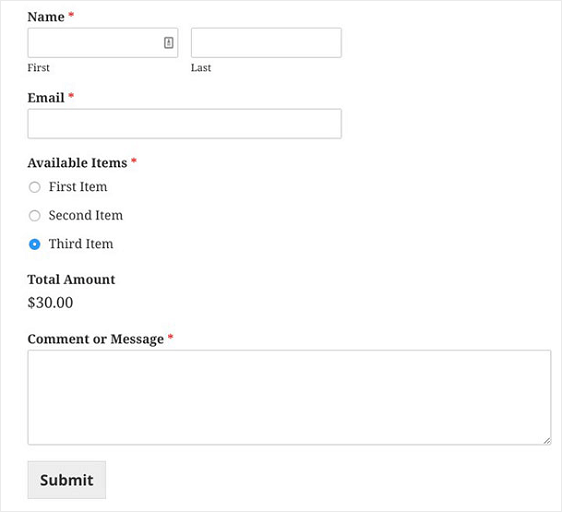 how to create a simple order form in wordpress step by step