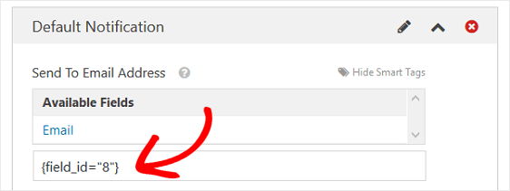 Form Notification Smart Tags, Email