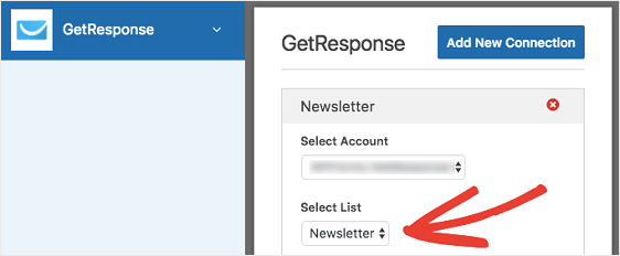 GetResponse Email List Name