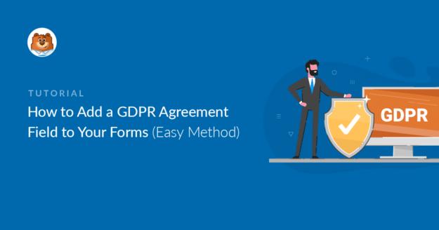Add a GDPR agreement field