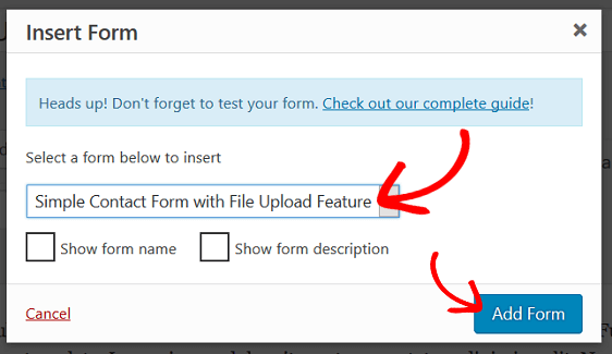Add File Upload Form to WordPress