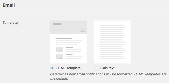 Change email template used in WPForms