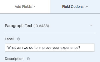 Customize field label text