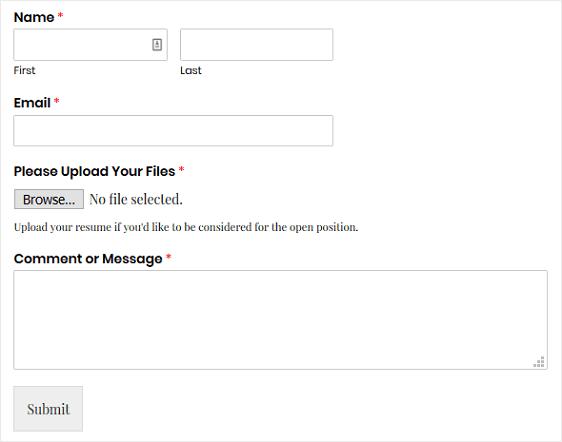 Final File Upload Form in WordPress