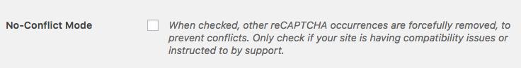 No-Conflict Mode for reCAPTCHA in WPForms