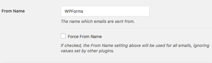 Set a From Name in WP Mail SMTP settings