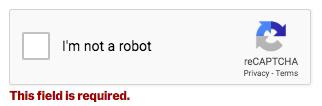 Validation error on reCAPTCHA in WPForms