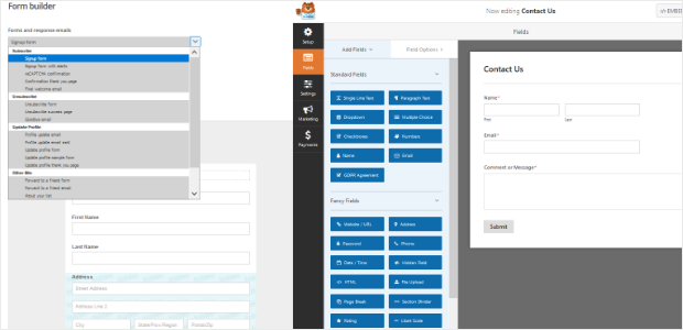 WPForms vs MailChimp Form Builder.