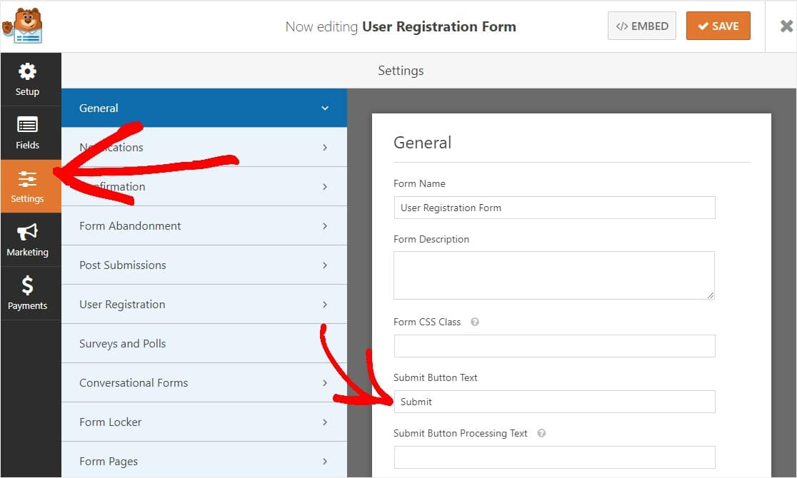 how to add the button for when a user clicks on creating an account registration button