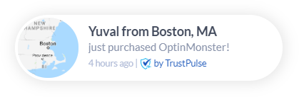 social proof notifications app trustpulse
