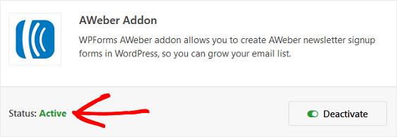 AWeber Addon