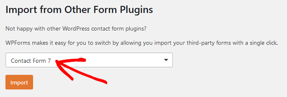 CF7 From Dropdown Menu to export Contact Form 7 to import into WPForms