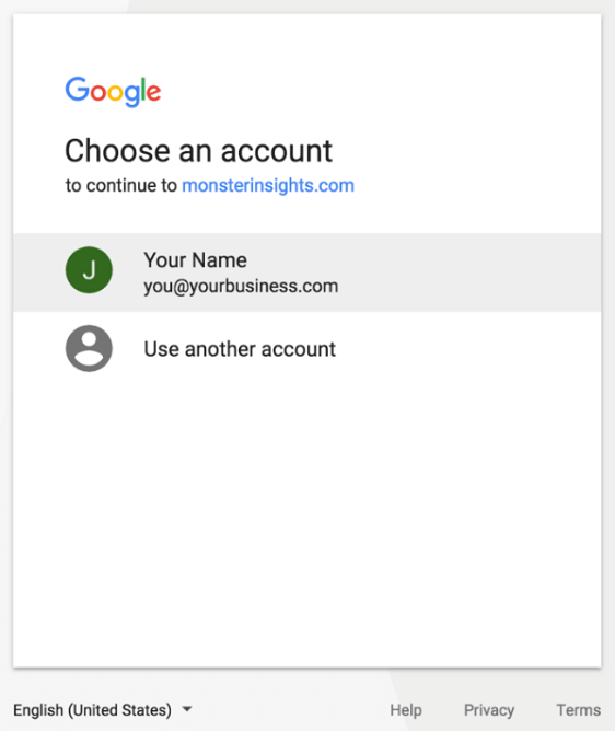 Choose Account