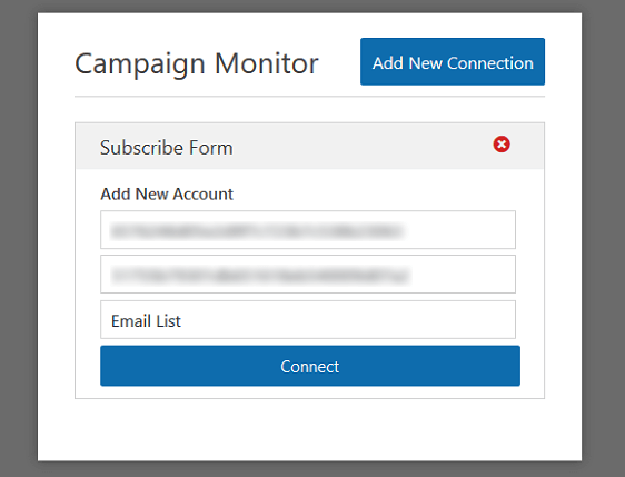 Connect Campaign Monitor to WPForms