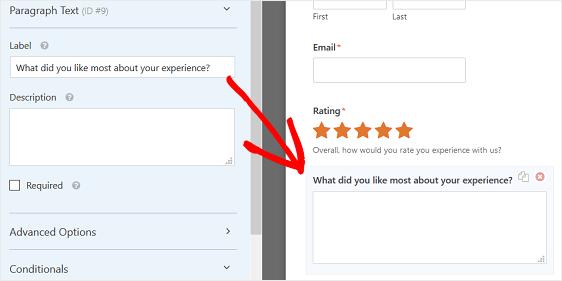 Customize Paragraph Text Box