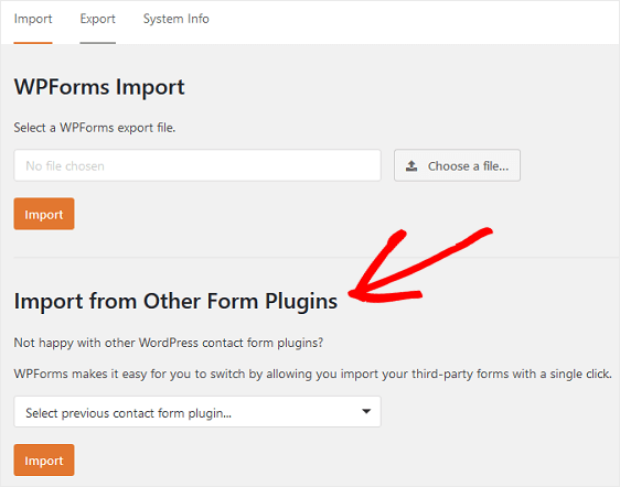 Import from Other Form Plugins